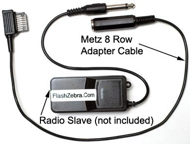 Metz 8 Row Connector to Inexpensive Radio Slave Adapter Cable