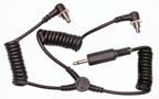Twin Coiled Screwlock PC Y Cord to Pocket Wizard, CyberSync or Elinchrom Skyport